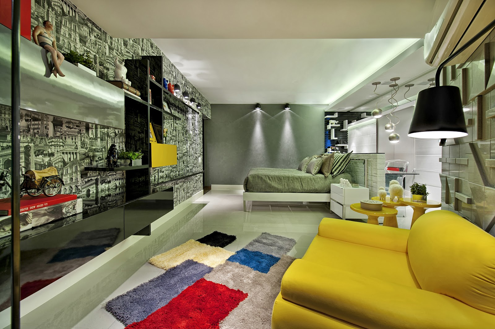 revistas de decoracao de interiores quartos: DECORAÇÃO: CASA COR GOIÁS 2012 'QUARTO DO ESTUDANTE DE ARQUITETURA