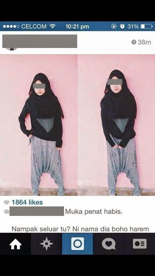 Rambo Malaysia: Fesyen seluar gadis bertudung paling pelik