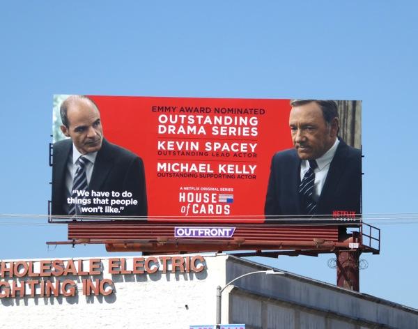 House of Cards season 3 Emmy 2015 billboard