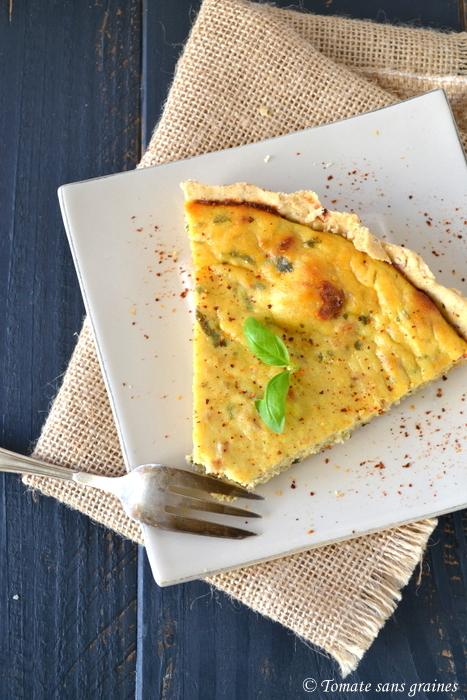 Tarte à la brousse, au thon et aux tomates séchées