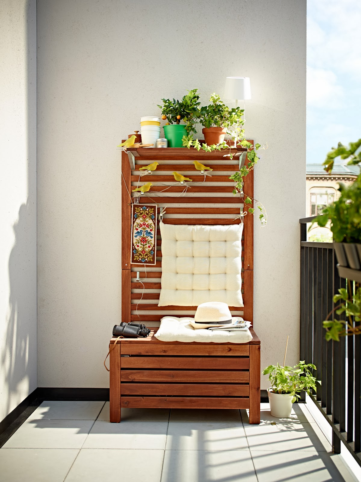 Bench for the balcony interior design ideas - ofdesign.