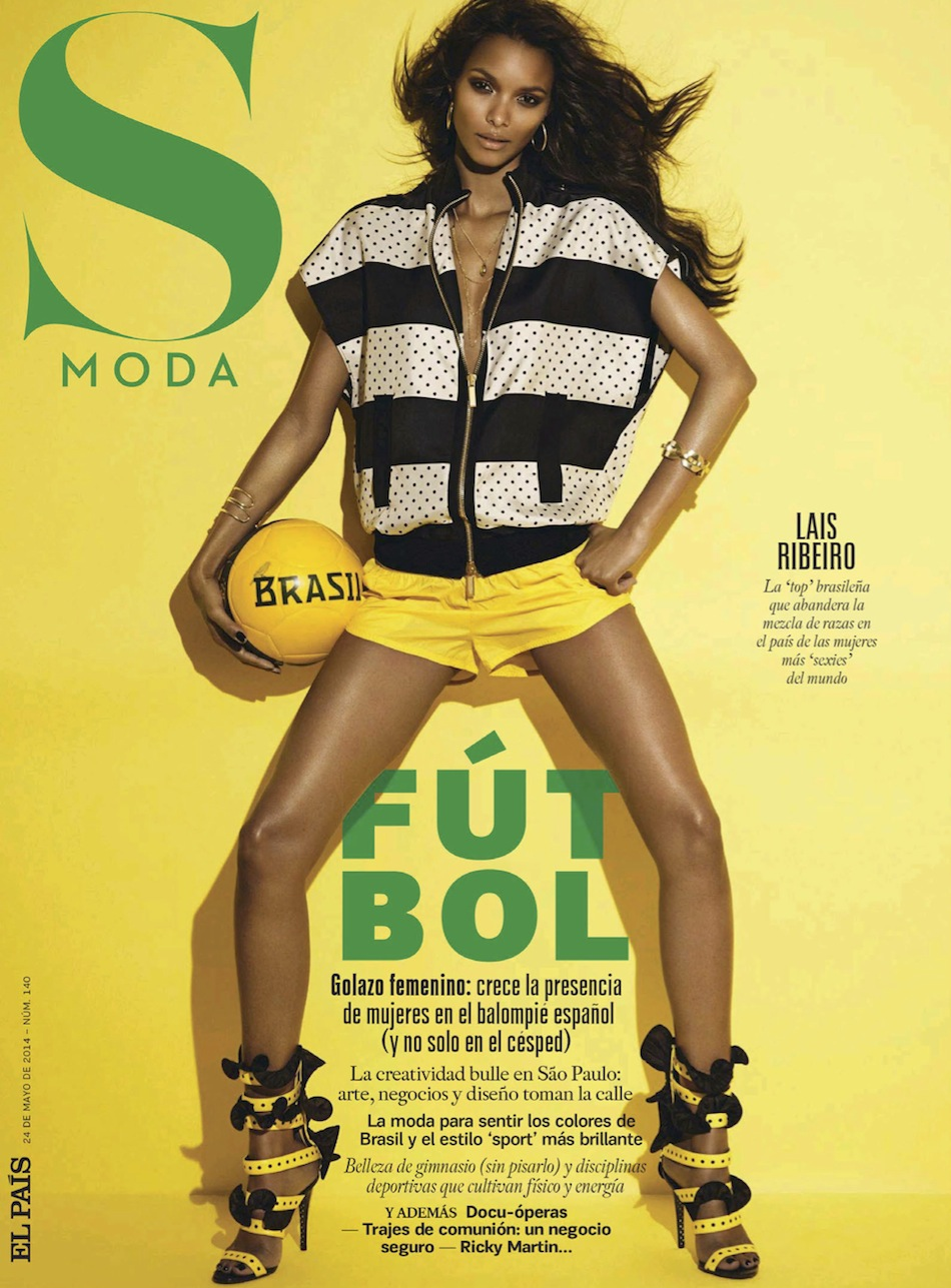 44d3ea7291 Lais Ribeiro in S Moda Magazine May 2014 by Jonas Bresnan