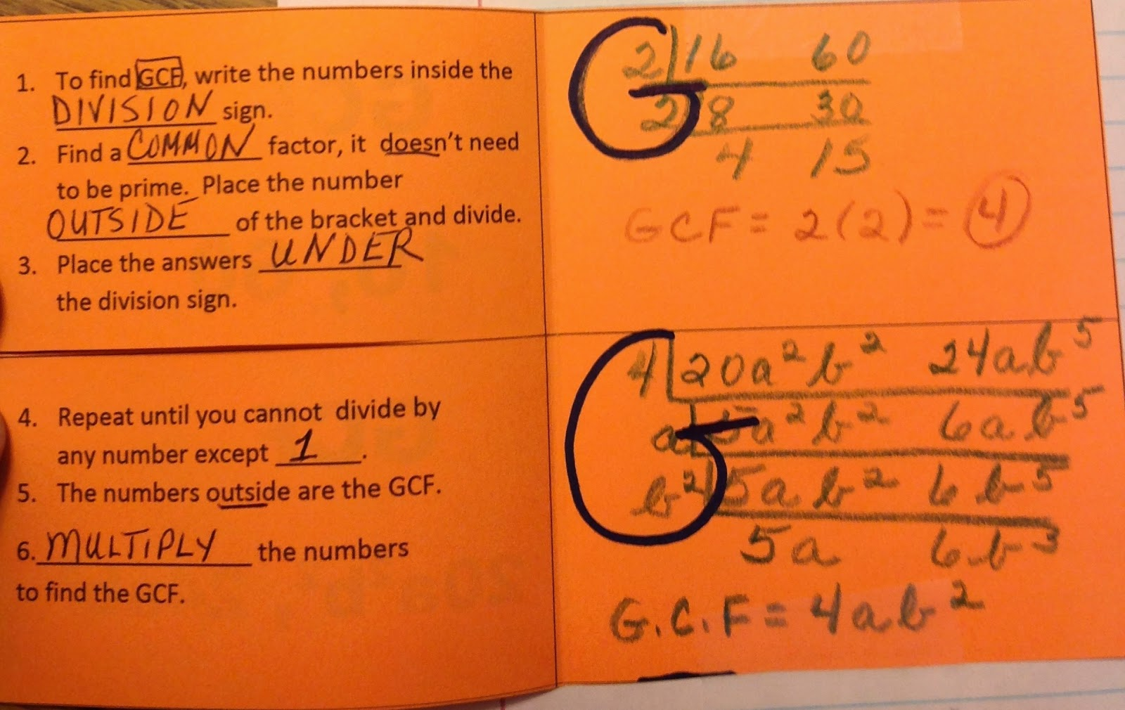 Finding the greatest common factor of polynomials worksheet answer key