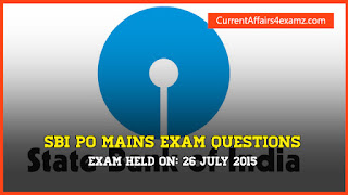 SBI PO Mains Questions 2015