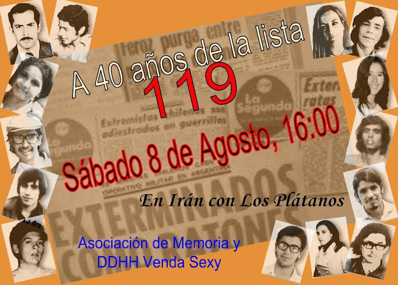 PEÑALOLEN:  A 40 AÑOS DE LA LISTA 119