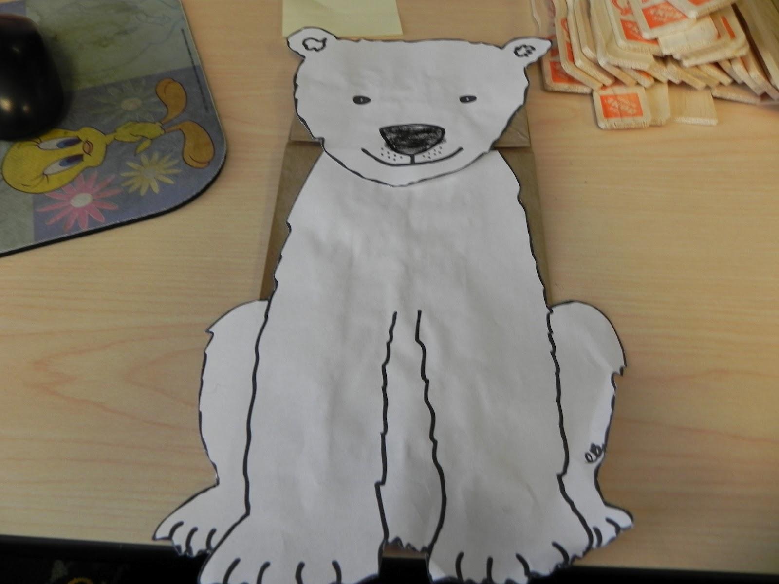 Polar Bear Craft Template Rhyme: polar bear, polar bear
