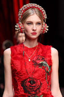 Dolce & Gabbana AW15 x Frends Embellished Red Headphones | Photo: Marcus Tondo / Indigitalimages.com
