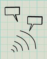 Speech bubbles sketch