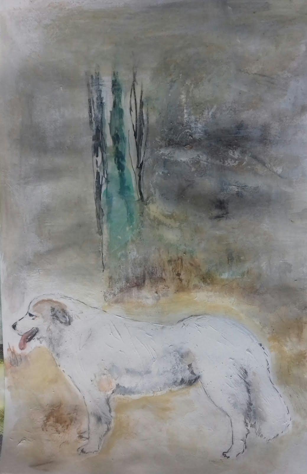 Laika en el camino de Pozán