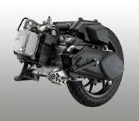 Spesifikasi motor matik TVS DAZZ  left