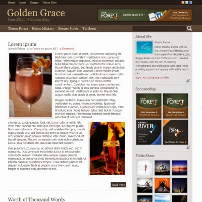 Golden Grace for Blogger