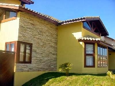 Fachadas de casas com pedras canjiquinha