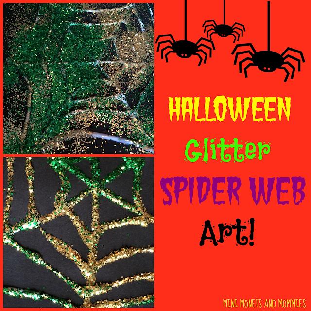 Glitter spider