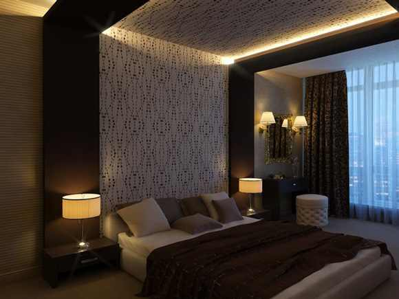 Modern pop false ceiling designs for bedroom interior 2014 room design ideas Master bedroom ceiling lighting ideas