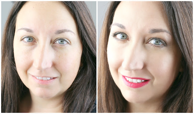 before after airbrush makeup