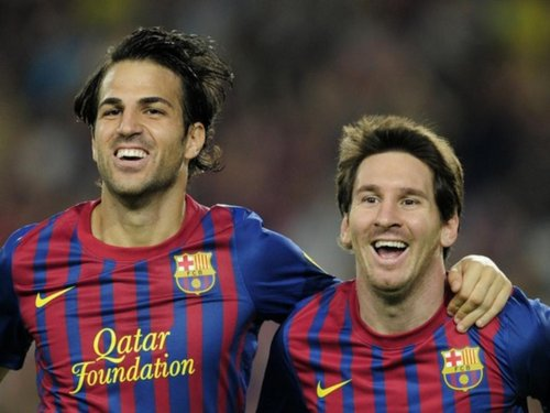 Leo Messi y Cesc Fabregas Barcelona 2011