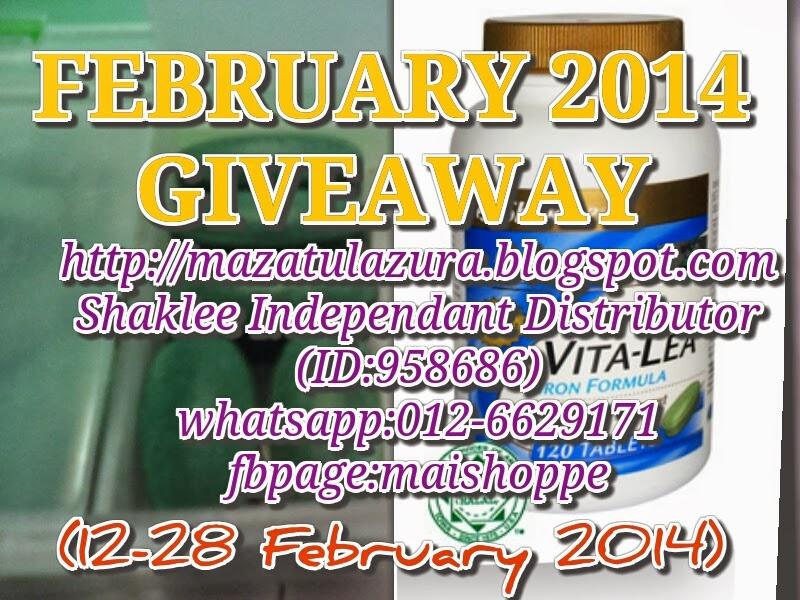 http://mazatulazura.blogspot.com/2014/02/february-2014-giveaway.html
