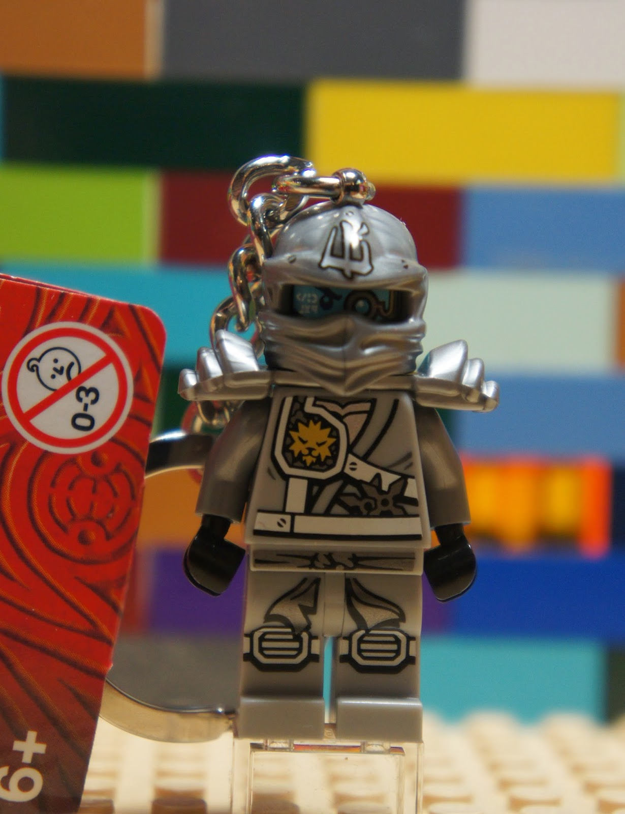 Lego 851352 ninjago titanium ninja zane keychain - Ninjago lego zane ...