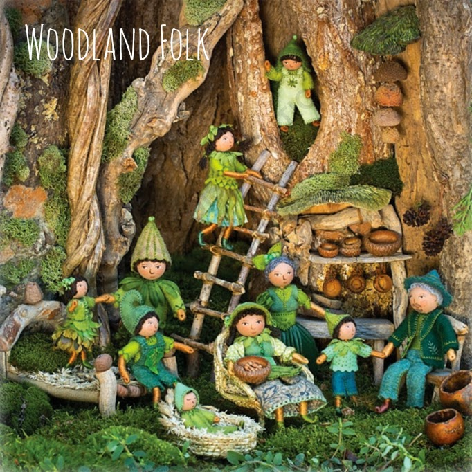 Salley Mavor Little People FELT WEE FOLK Craft Book Enchanting Projects Fairies and Fairy Tales Doll Making Pattern Book Sewing
