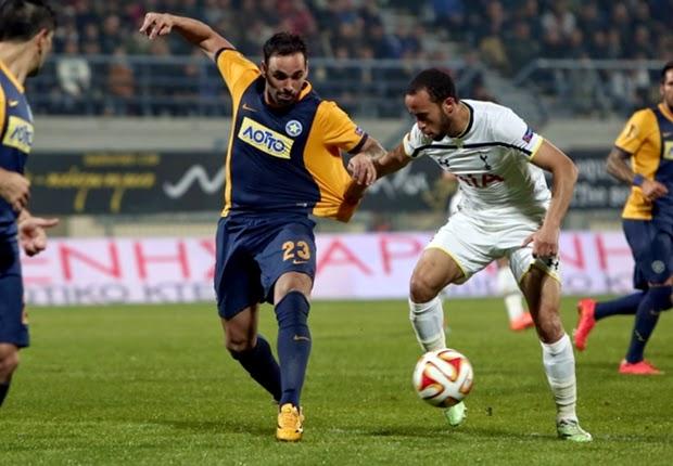 Liga Europa : Asteras Tripolis vsTottenham Hotspur  1-2