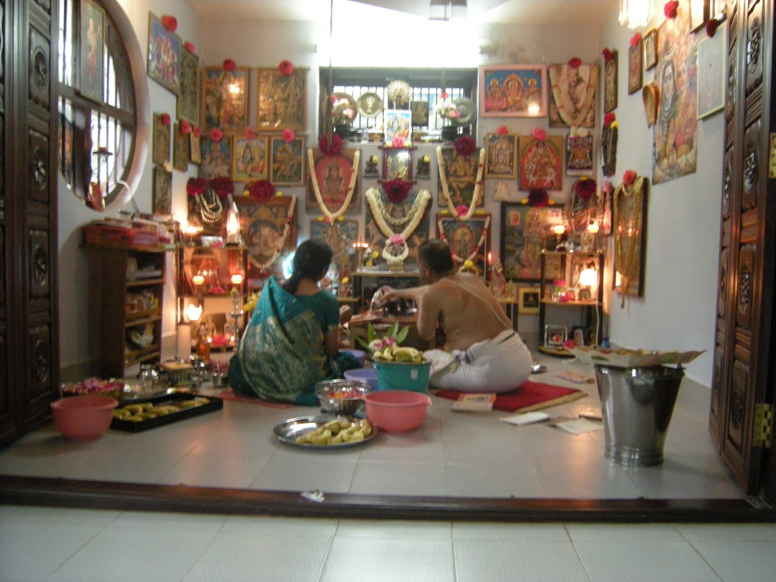 In the Puja Room