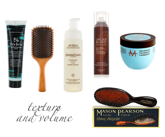 hair products for texture and volume