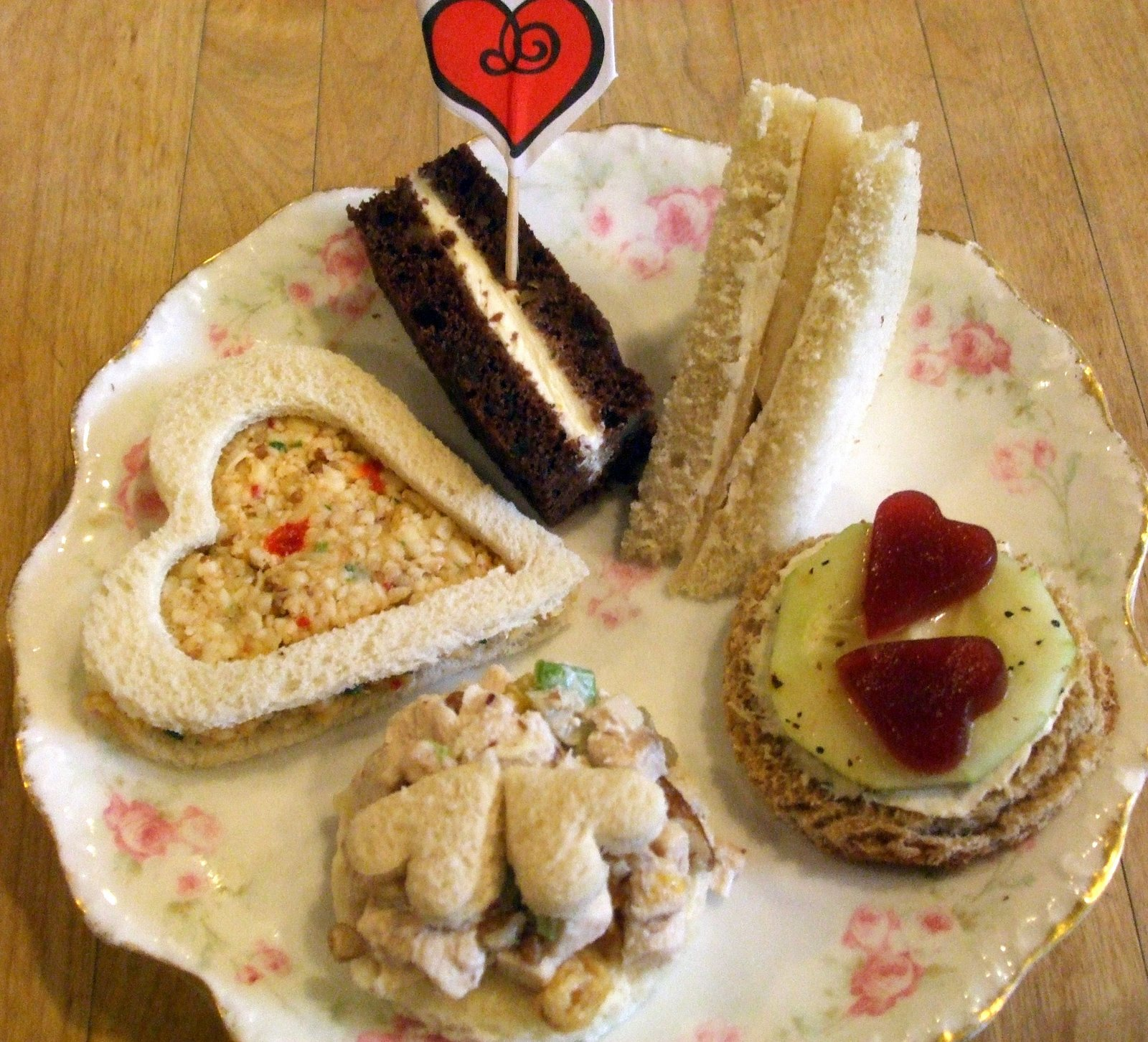 Oven fresh scones included Traditional English Cream and heart shaped ...