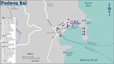 Padang Bai Map