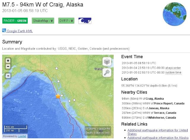 earthquake, Alaska, Canada, USGS