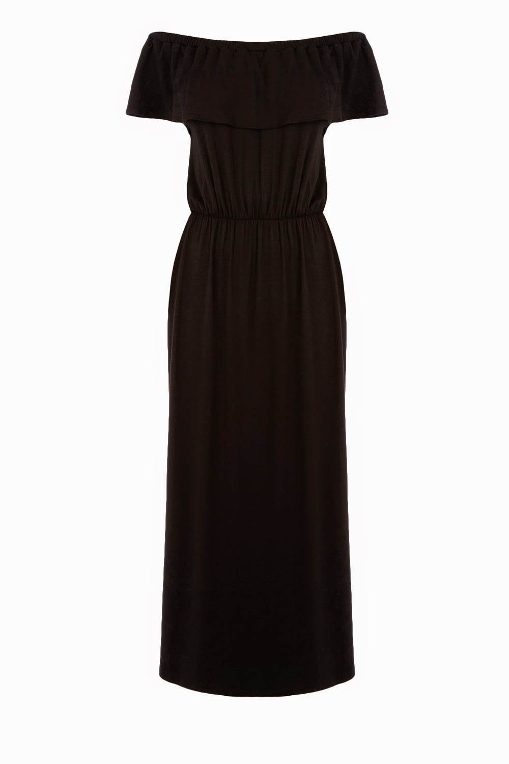 black gypsy maxi dress, warehouse off shoulder black dress,