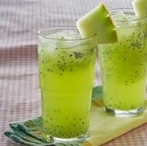Resep Squash Melon Selasih