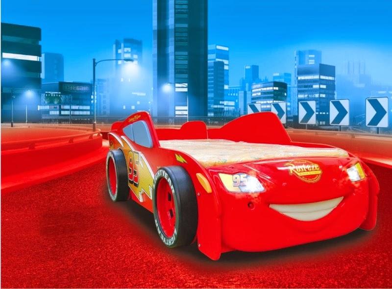 Letti Per Bambini A Forma Di Automobile.Camere Per Bambini Letto A Tema Cars 2 Saetta Mcqueen A Forma Di