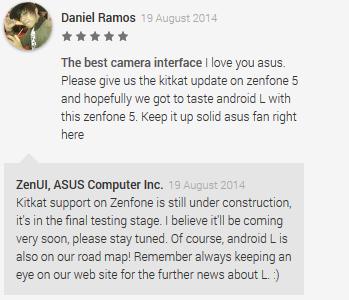Asus Zenfone Bakal dapat Update Android L