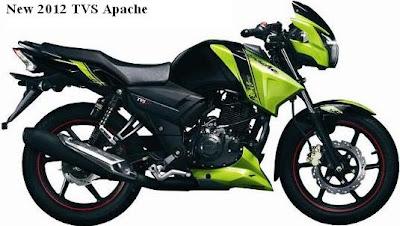 New 2012 TVS Apache
