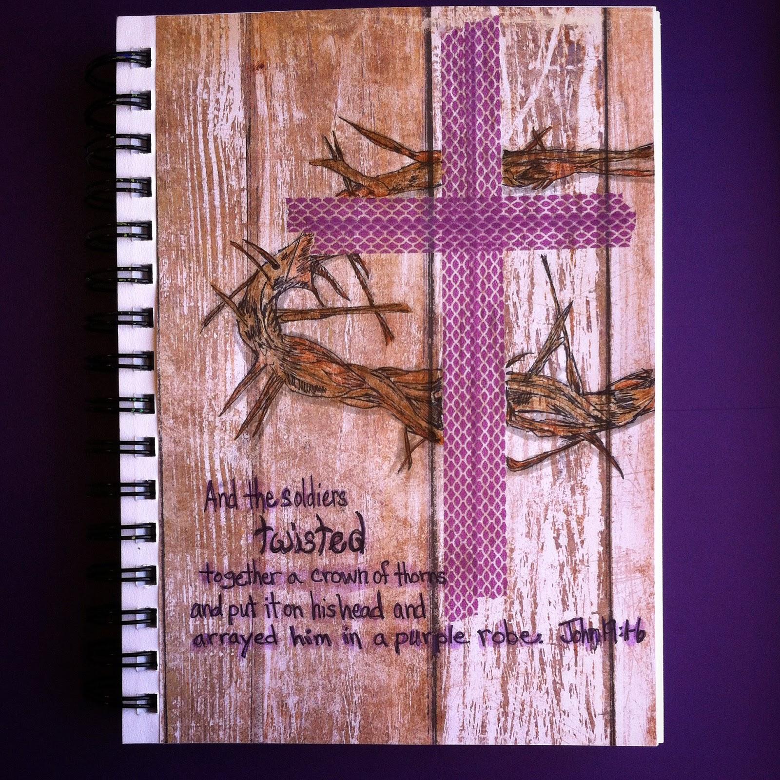 KarenScraps: Lenten Art Journal: A Royal Pardon