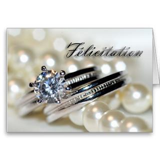 Carte mariage felicitation