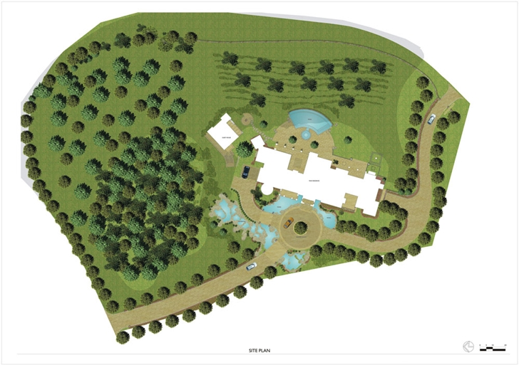 Site plan of Luxury Villa Del Lago