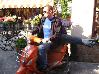 Perfect shirt for my Vespa cruise.