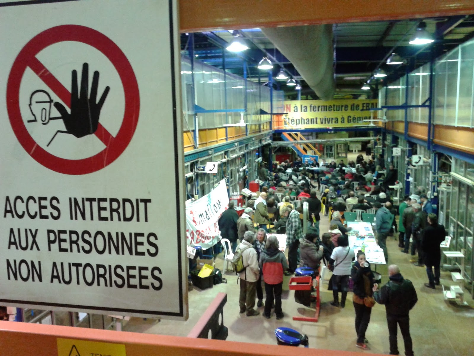 "Report from the ""Workers' Economy"" international meeting, January 31 and February 1, occupied factory of Fralib, Marseille."