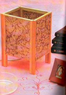 Lamparitas con copas de cristal mimundomanual - Como hacer una lampara de mesa ...