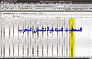 Données Climatiques Nord Maroc