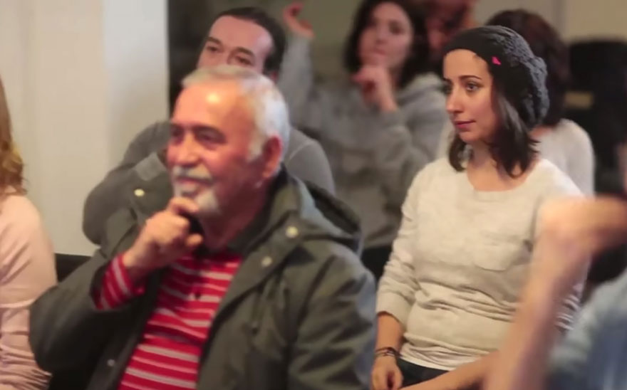 Entire Neighbourhood Secretly Learns Sign Language To Surprise Deaf Neighbor - Muharrem's neighbors spent a month secretly learning sign language