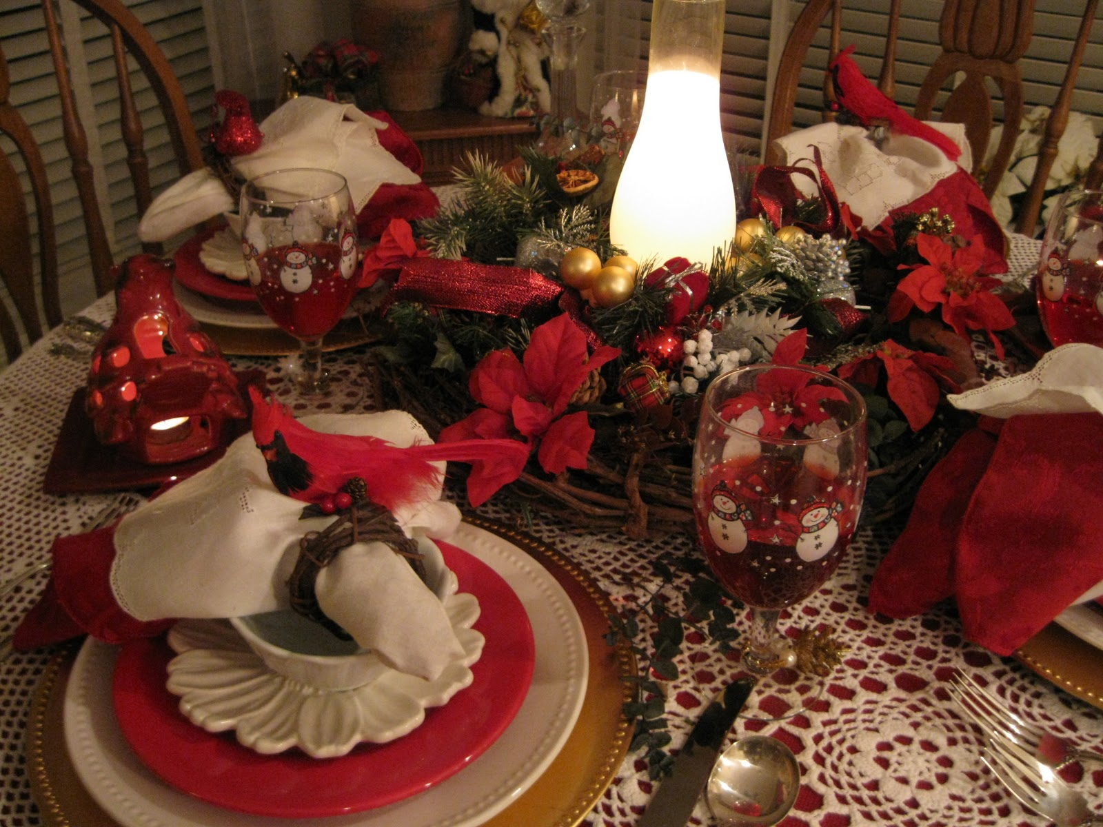 Tablescapes By Diane Red Cardinal Tablescapes For