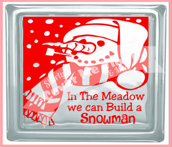 Snowman Meadow Cube Light