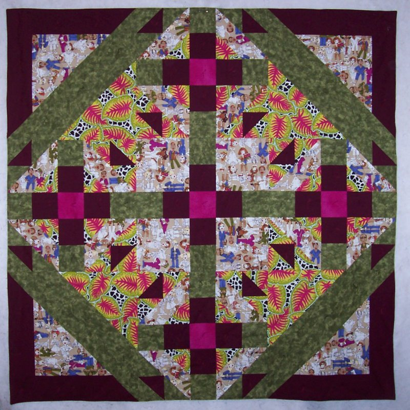 Traveling Quilter: Nurse Quilt Finished and Delivered