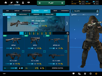 Ghost Recon Online - Weapon Shop