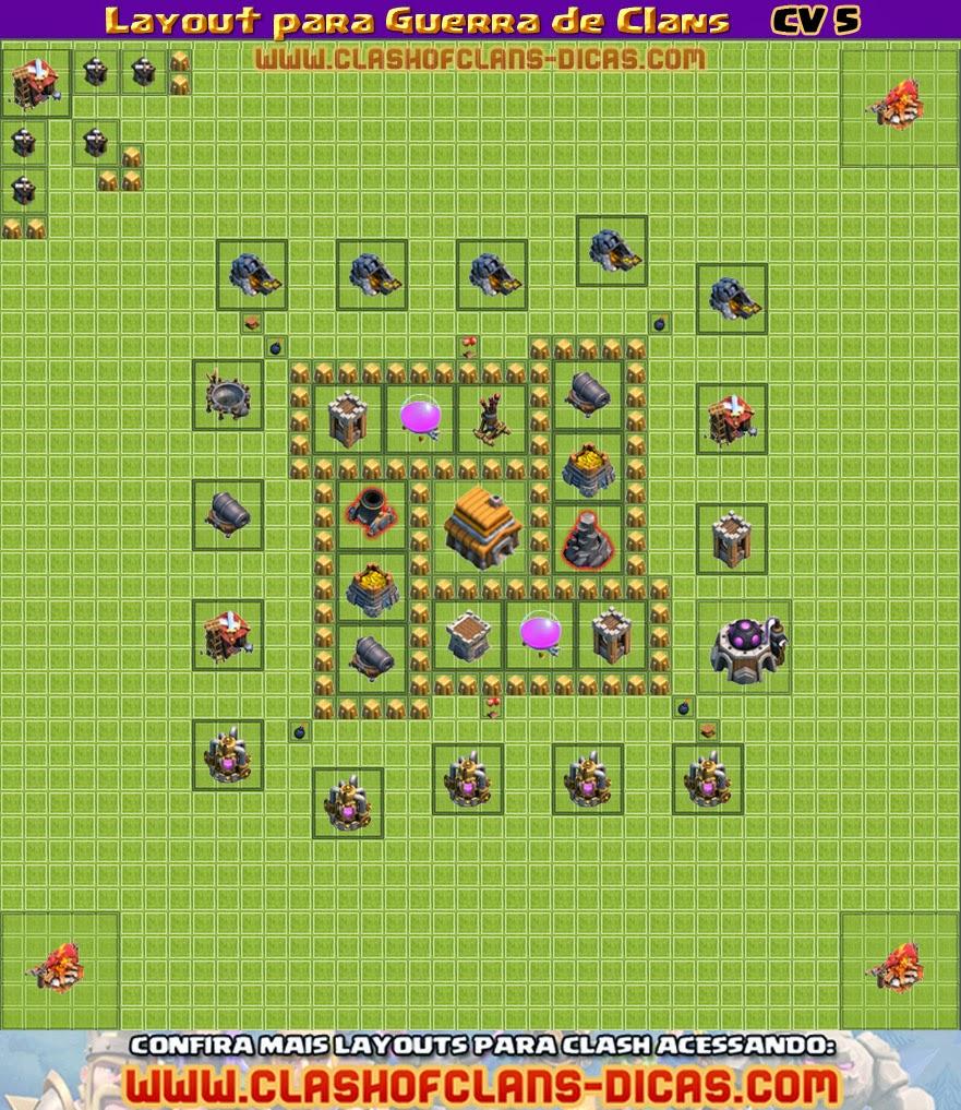 Layouts para Guerra Clan-wars-layout-townhall-5