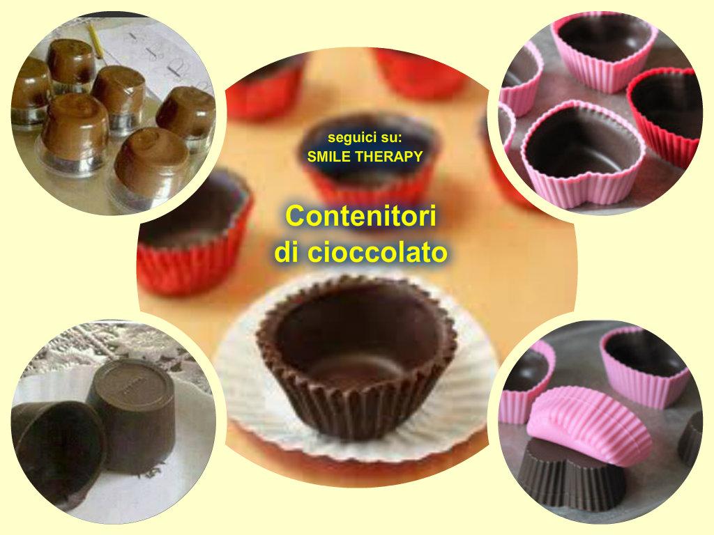 Contenitori di cioccolato in modo naturale - Bagno di cioccolato ...