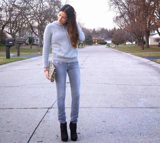 grey rag & bone jeans, topshop sweater