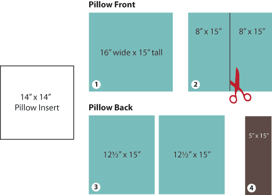 Sewing Pillows Pleated